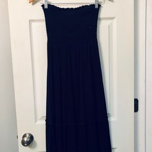 American Eagle Outfitters Black Strapless Dress